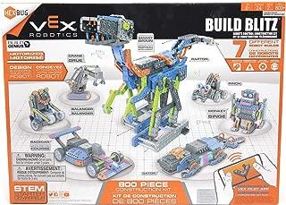 HEXBUG Build Blitz Construction Kit with STEM Sheets, App Controlled Robot (Blue/Orange)