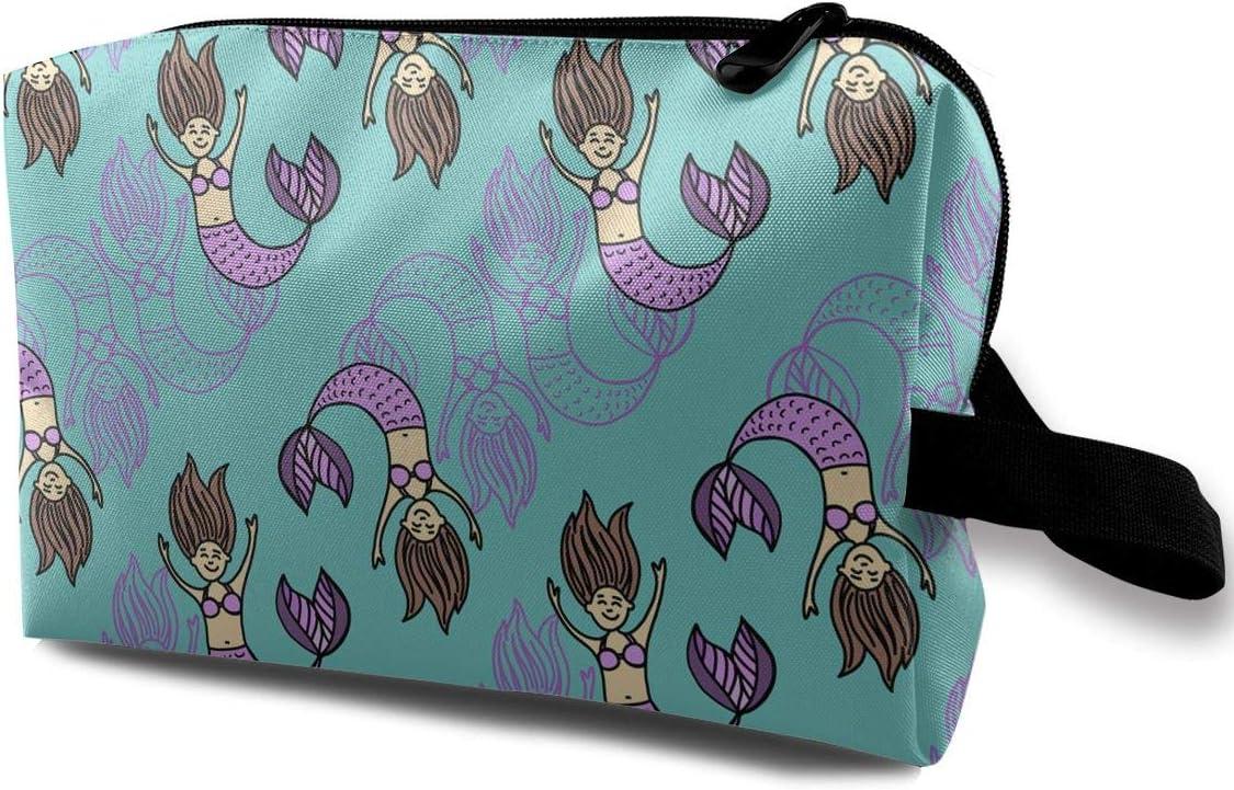 QiiRy Playful Mermaids Swimming in Sea Travel Bags Dust Award Industry No. 1 Portable