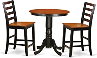 East West Furniture 3 Piece Pub Table and 2 Kitchen Bar Stool Set
