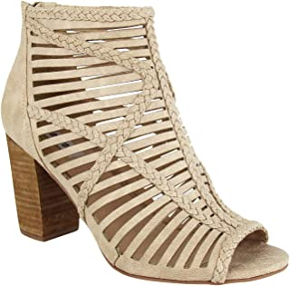 Love to All High Heel Open Toe Caged Sandal with Braided Detail