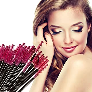50 Piece Makeup Brushes Set Disposable Eyelash Mascara Wand Comb Spoolers Tool Professional Natural Beauty Palette Eyeshadow Bright Popular Eyes Faced Colorful Rainbow Hair Highlights Kit, Type-06