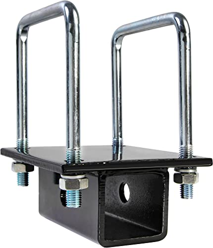RV Bumper Bike Rack Carrier Receiver Adapter for 4 Square RV Bumpers Rust