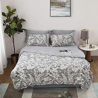 XLLJA påslakan 2 kuddöverdrag, höst och vinter jacquard 100 % bomull satin sängkläder paket, dubbla lakan och lakan, stude...