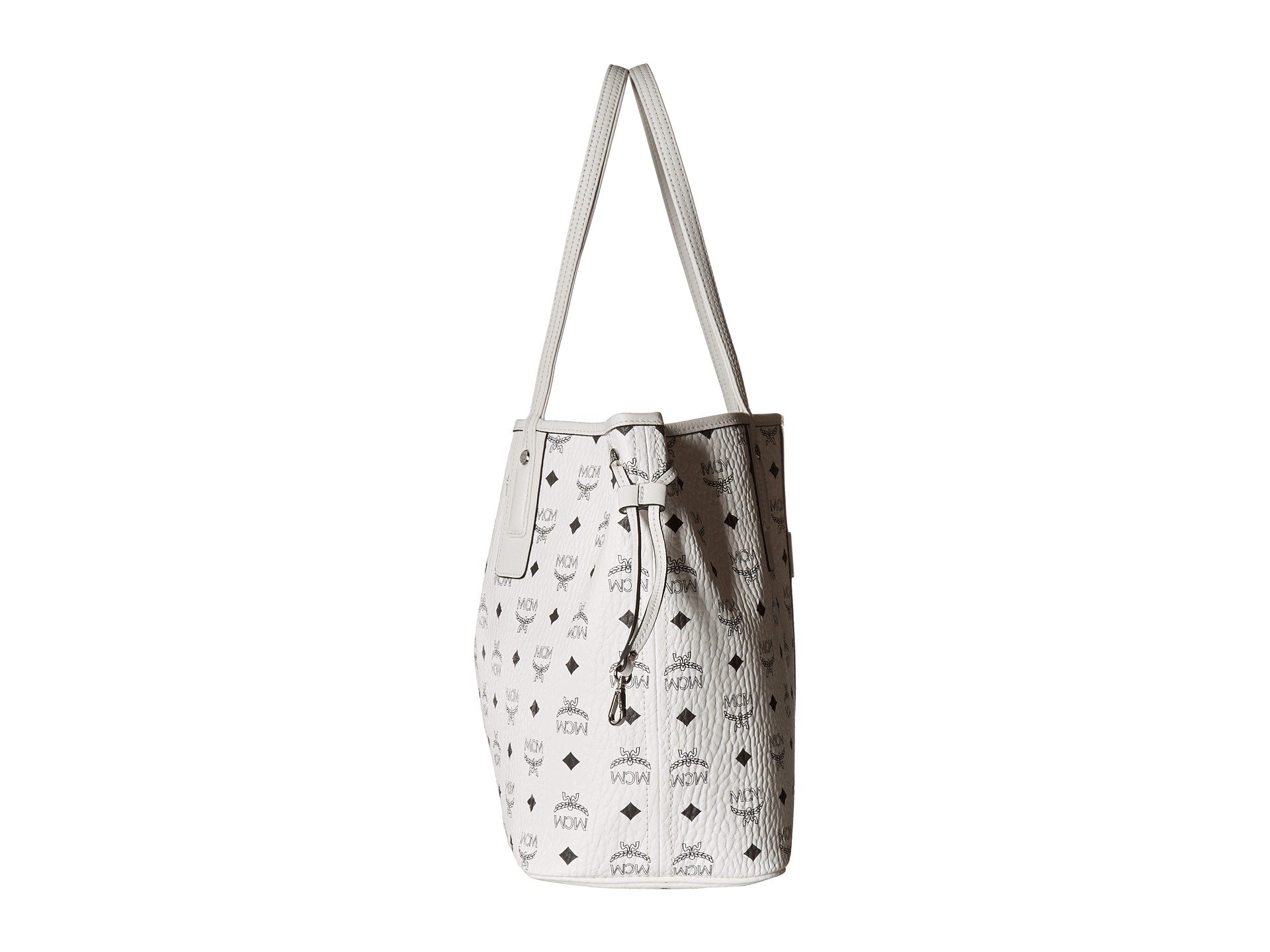 In White Mcm Medium Reversible Shopper Visetos Liz OYwwIx