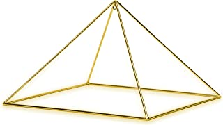 """Finest Quality 51 Degree 9"""" 24k Gold-plated Copper Meditation Pyramid for Healing"""