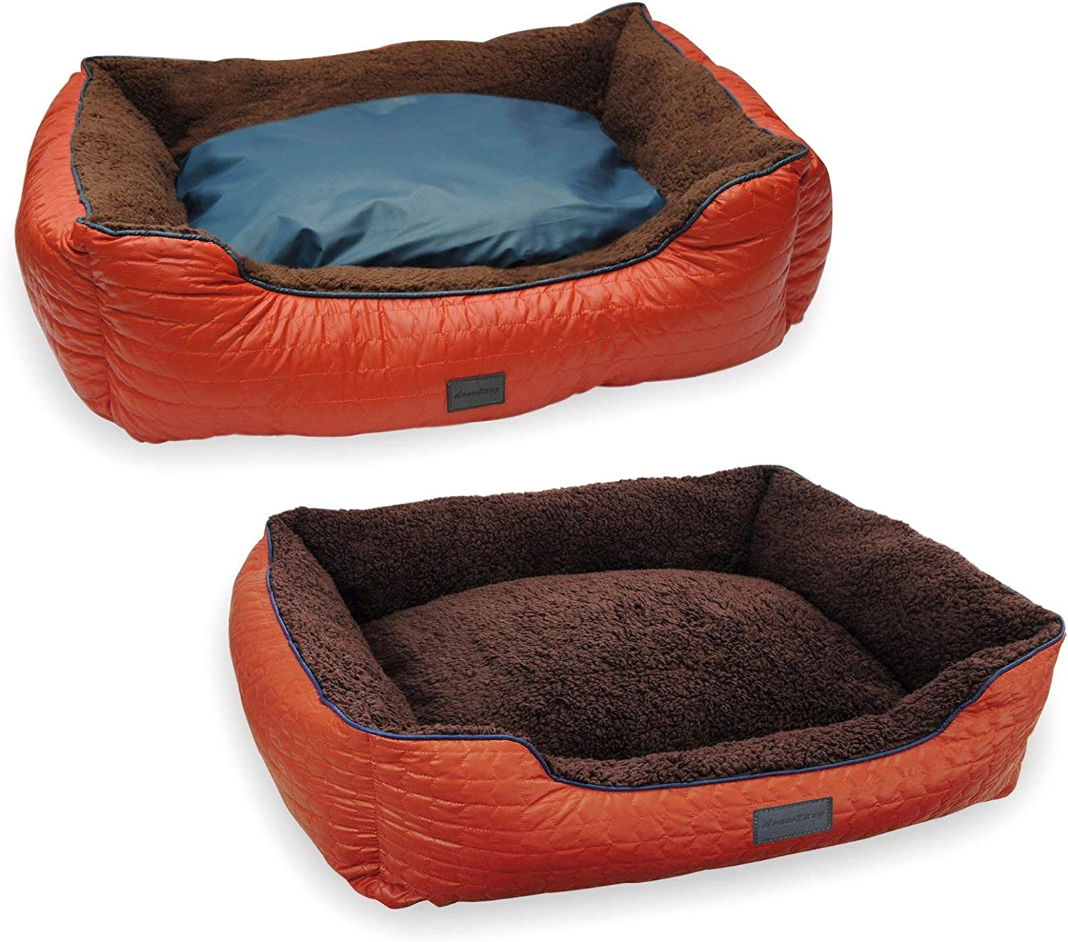 EZ Living Home Chevron Quilted Couch Bed, Medium, Tangerine