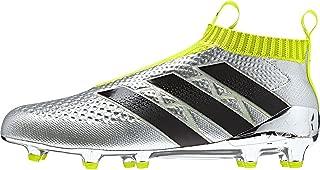 adidas Ace 16+ Purecontrol FG Soccer Cleats (Silver Metallic, Black, Solar Yellow)