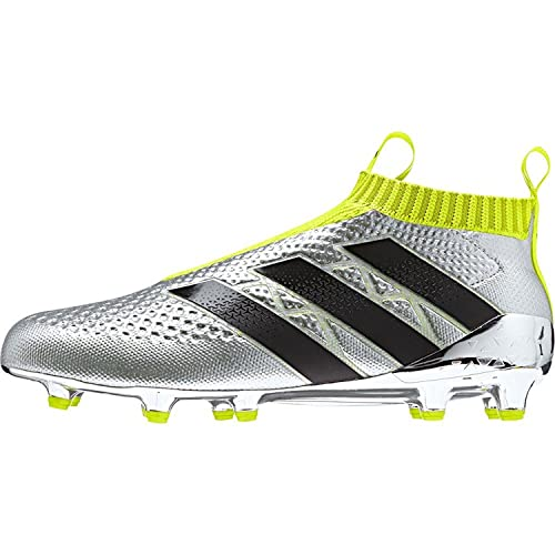 adidas Ace 16+ Purecontrol FG Soccer Cleats (Silver Metallic, Black, Solar Yellow