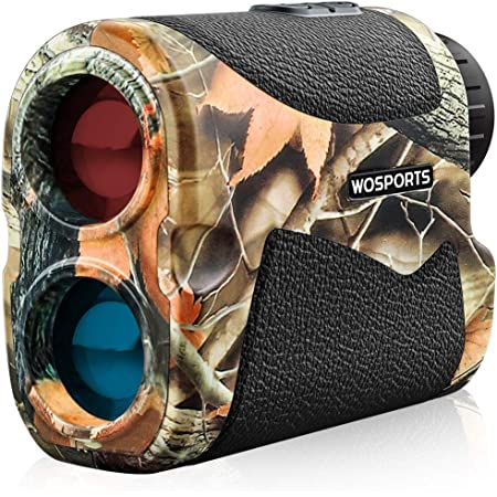 WOSPORTS Hunting Range Finder, 700 Yards Archery Laser Rangefinder for Bow Hunting with Flagpole Lock, Ranging, Scan, Speed Mode, Free Battery, Carrying Case
