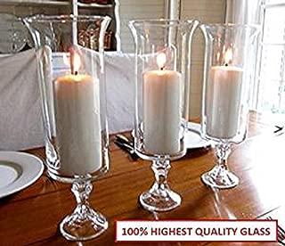 13.5 inch Wedding Centerpice Flared Trumpet Hurricane Glass Vase Sets of 1, 4, 8 or 12 (1)