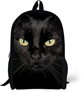 Black Cat Lightweight Anime Backpack For Kid Cool Cute Animal Printed Schoolbag