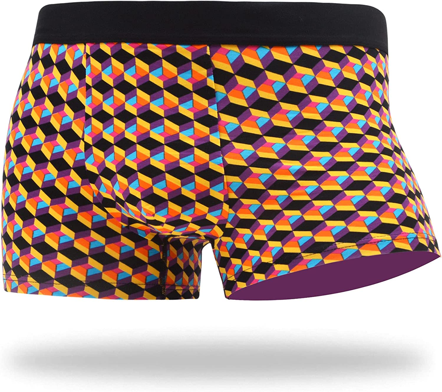 WAZATE Men's Raleigh Mall Funny Trunk Colorful Novelty Sales results No. 1 Comde Underwear Cotton