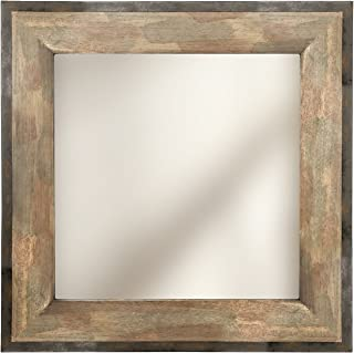 Hosley Wooden and Metal Frame Mirror 20 Inch High. Ideal for Weddings Special Occasions and for Wall Decor Home Spa Aromatherapy Reiki. P2