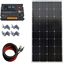 Kit de arranque solar mono de 150 W 12 V con 20 A AMP LCD controlador de carga para rejilla de apagado RV barco autocaravana