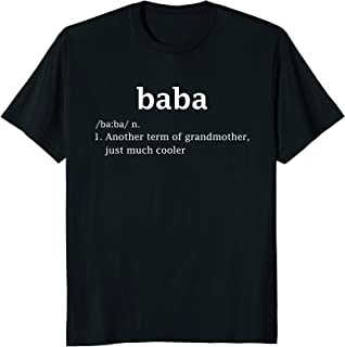 Baba Definition Funny Serbian Grandma Mother Day Gifts Shirt