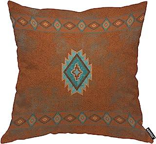 AOYEGO Southwest Canyons Diamond Throw Pillow Cover Tribal Pattern Vintage Zigzag Retro Marble Modern Geometric Grain Pill...