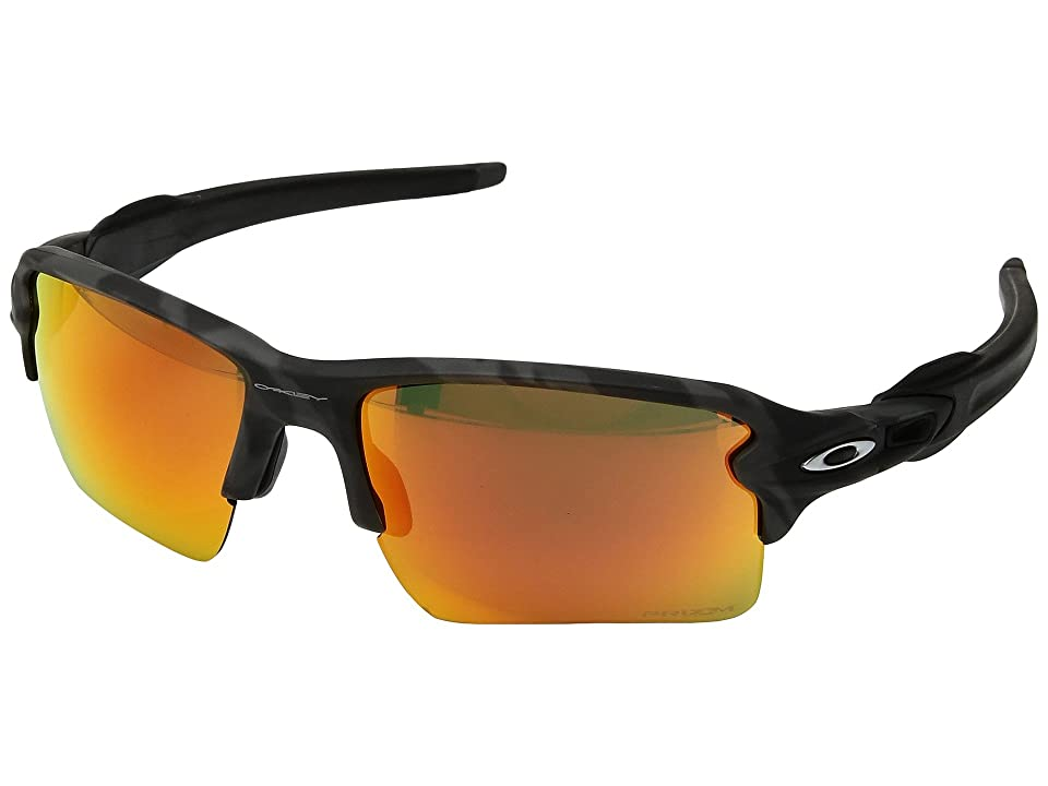 Oakley Flak 2.0 XL (Black Camo w/ Prizm Ruby) Fashion Sunglasses