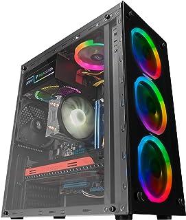 Mars Gaming MCG, custodia per PC ATX, vetro temperato, 3 ventole a LED