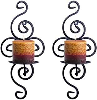 Super Z Outlet Pair of Elegant Swirling Iron Hanging Wall Candleholders Votives Sconce..