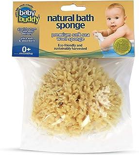"Baby Buddy's Natural Baby Bath Sponge 4-5"" Ultra Soft Premium Sea Wool Sponge, 1 Count"