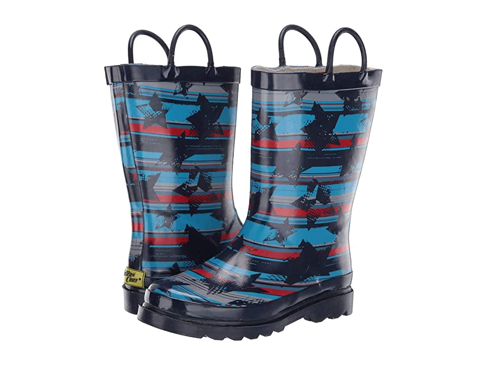 Western Chief Kids Limited Edition Printed Rain Boots (Toddler/Little Kid/Big Kid) (Cool Stripe Navy) Kids Shoes