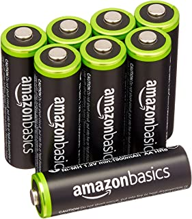 AmazonBasics AA Rechargeable Batteries (8-Pack) Pre-charged - Battery Packaging May Vary
