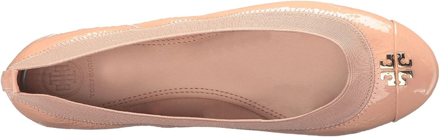 Tory Burch Jolie Ballet Flat, Soft Naplak Elastic, Light Oak