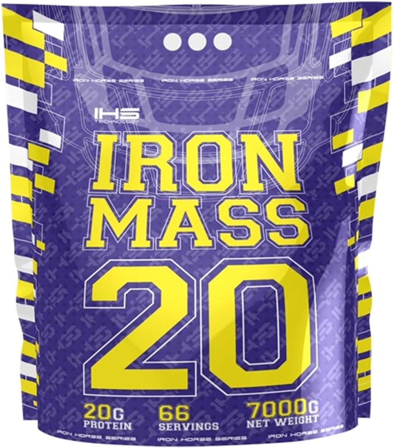 Iron Horse Mass Gainer Whey Protein Powder 1 x 7000g pack Aumento de masa Carbohidratos Carbohydrates (Vanilla)