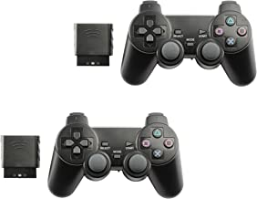 Controller for PS2 Playstation 2 Wireless (Black) - 2 Pack
