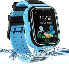 Kids Smart Watch Phone, LBS/GPS Tracker Waterproof Smartwatch for Boys Girls Children SOS Touch Screen Camera Two-Way Call...