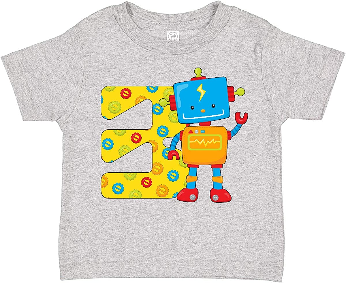 inktastic This Robot is Three- 3rd Birthday Toddler T-Shirt