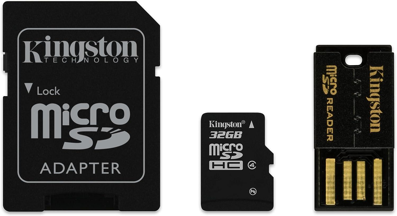 Kingston Digital Multi-Kit/Mobility Kit 32 GB Flash Memory Card Reader, MBLY4G2/32GB