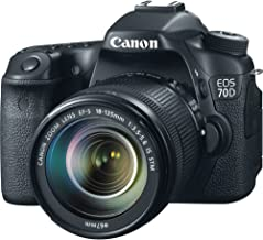 Canon EOS 70D DSLR Camera with 18-135mm f/3.5-5.6 STM Lens and Built-in Wi-Fi (Renewed)