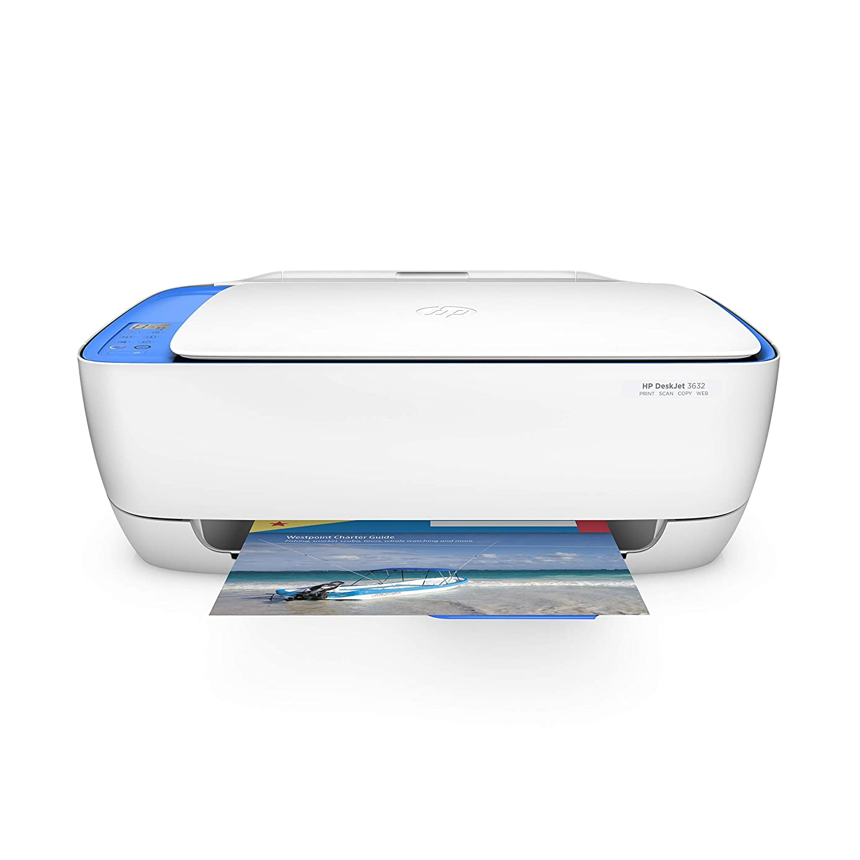 HP Deskjet 3632 All-in-One Printer Copier Scanner (Renewed)