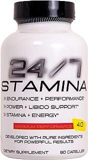 24/7 Stamina Testosterone & Enlargement Booster for Men - Increase Size, Strength, Stamina - Energy, Mood, Endurance Boost...