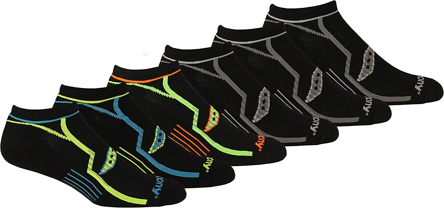 Saucony mens Multi-pack Bolt Performance Fit Comfort Opening large release sale Regular store Soc No-Show