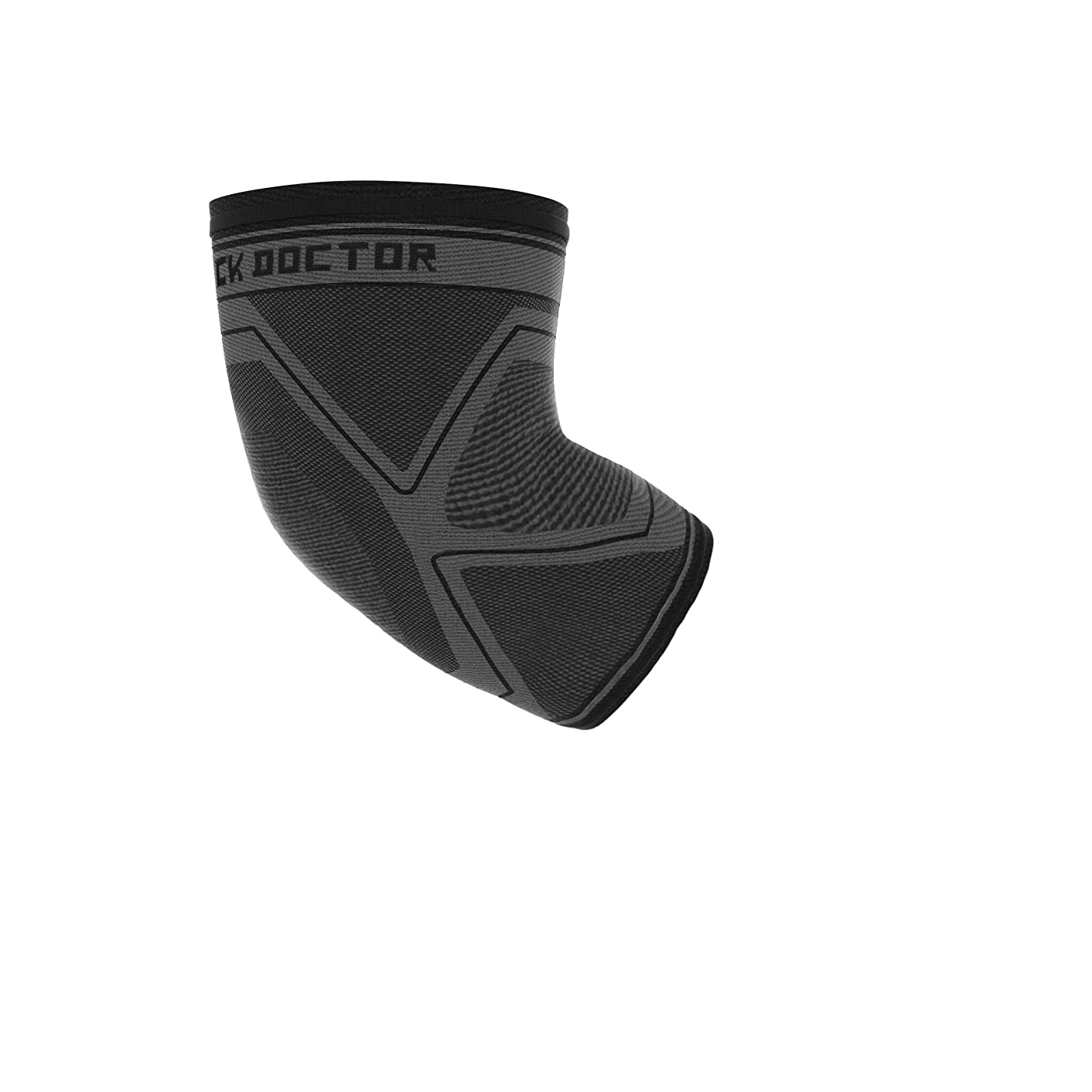 Shock Doctor Elbow Sleeve Brace Compression for Recovery, Tendonitis, Golfer Elbow, Tennis, Arthritis, Joint Pain Relief, Injury. For Men and Women, Left or Right. Grey/Black