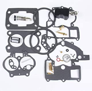 Mercruiser Marine MerCarb Carburator Rebuild Kit 2 BBL 3.0 4.3 5.0 5.7 EtOH Resistant Float, 3302-804844002 1389-9562A1 1389-9563A1 1389-9564A1 1389-9670A2 1389-806077A2 (with Float)