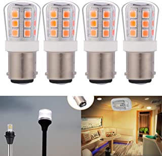 12V Low Voltage 1004 1076#90 led Light Bulb BA15D Double Contact Bayonet for RV Trailer Camper Motor Home Marine Boat Land...