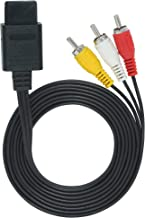 OSTENT AV Audio Video A/V Composite TV Cable Cord Compatible for Nintendo 64 N64 GameCube NGC Super Nintendo SNES SFC