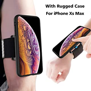Running Armband Case Kit for iPhone XS Max, SPORTLINK One Key Release Quick Mount Detachable for Hiking Jogging Biking Workouts