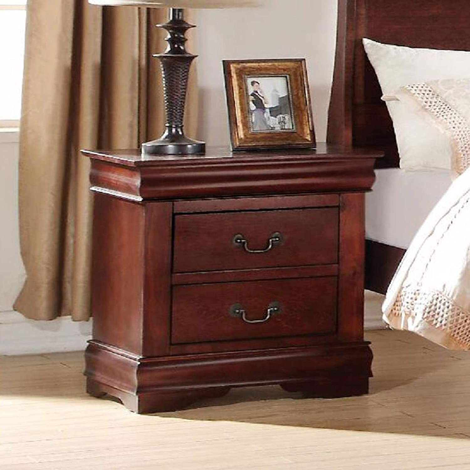 YIREAUD Outlet ☆ Free Shipping 2 Drawer Clearance SALE! Limited time! Nightstand Cherry Nightstands Night Wood Solid