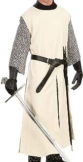 Medieval Knight Viking Pirate Long Surcoat Cotton Tunic Costume Warrior LARP (S-6XL)