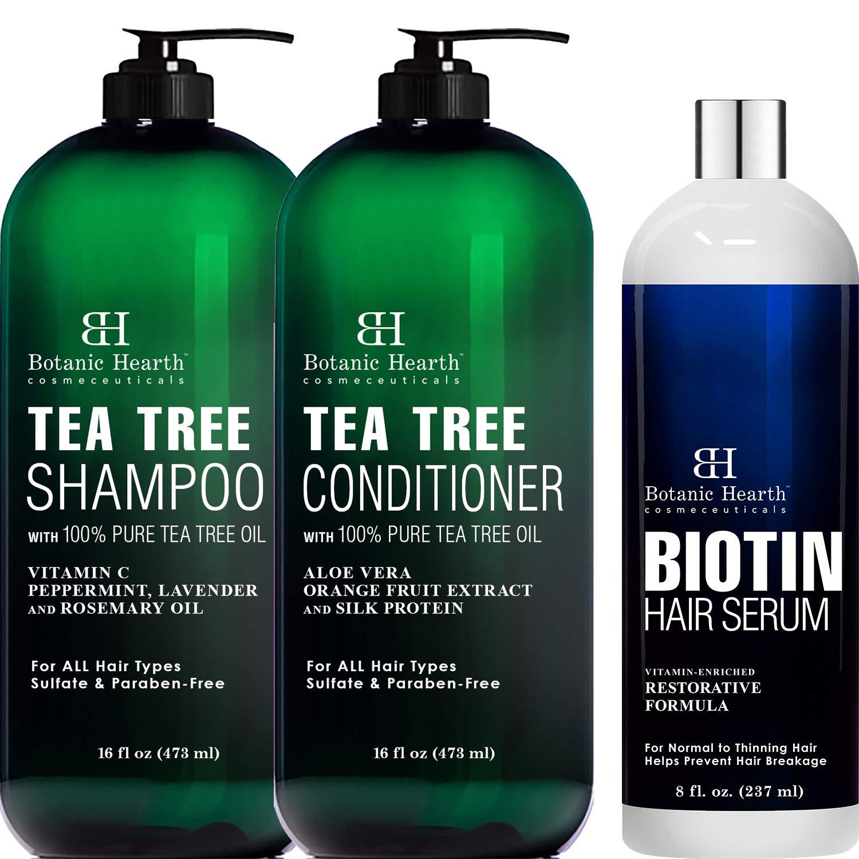 Botanic Popular 2021 new Hearth Tea Tree Shampoo Conditioner 16 a Set each oz