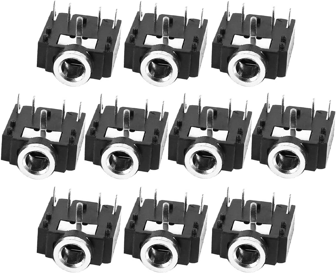 Same day shipping Aike 3.5mm Plastic PCB Mount Socket Audio Minneapolis Mall Connector 5-Pin Stereo