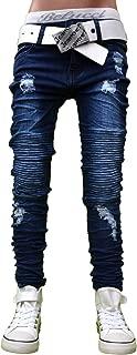 30LF06 Blau Jeans Hose Junge Kinderjeans Bikerjeans Skinny Stretch neu