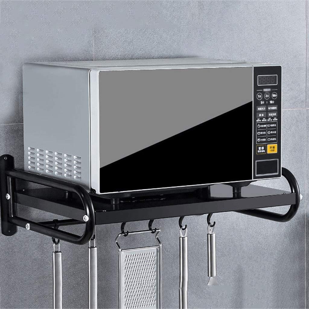 ZXUE Estante de la Cocina Colgador de Pared Horno microondas Rack Rack para aderezo Rack Recibidor Soporte para Colgar Seasoning Rack (Color : Negro): Amazon.es: Hogar