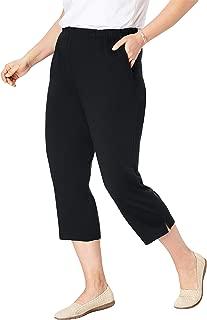 Women's Plus Size 7-Day Knit Capri