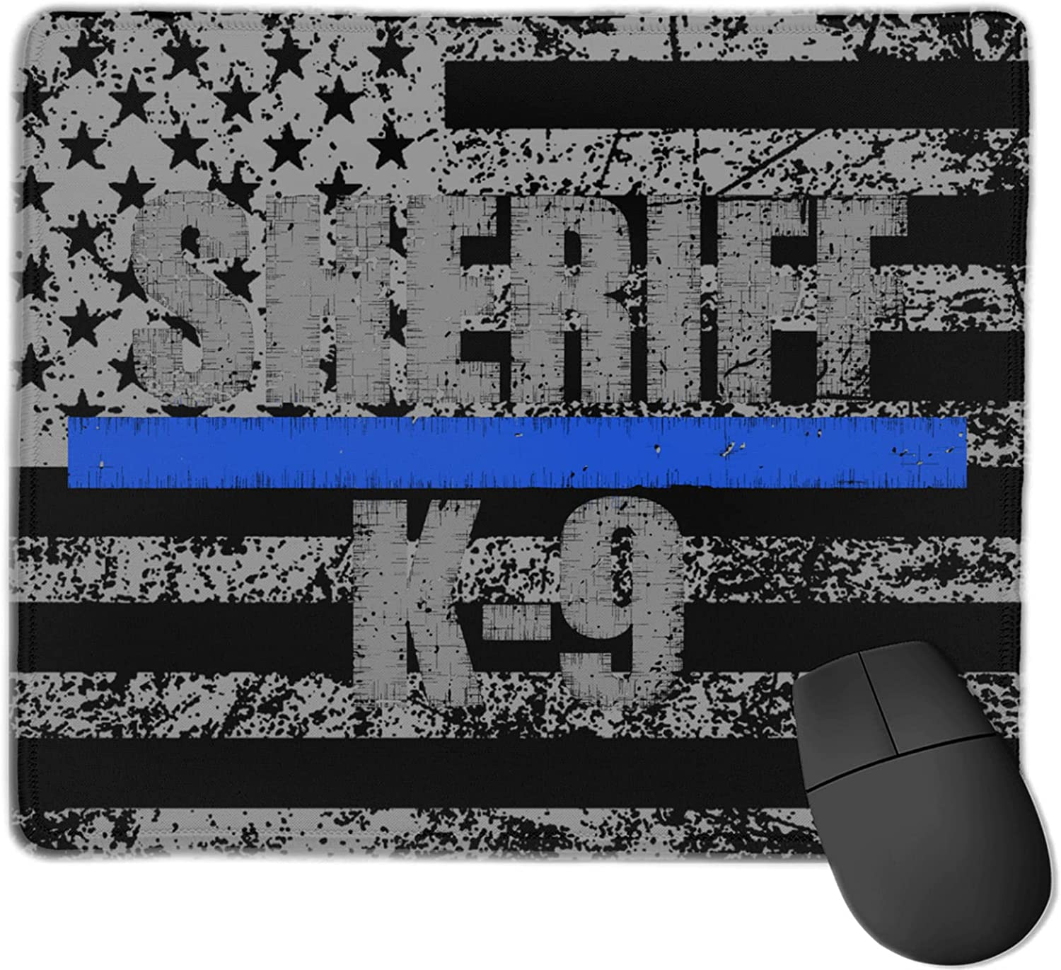 Sheriff Popular overseas K-9 Thin Blue New mail order Line Pad Computer Gaming O Mouse