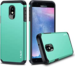 J&D Case Compatible for Galaxy J3 2018 Case, J3 V 3rd Gen/J3 Achieve/J3 Star/Amp Prime 3 Case, Heavy Duty [Dual Layer] Hybrid Shock Proof Protective Rugged Bumper Case for Samsung Galaxy J3 2018 Case